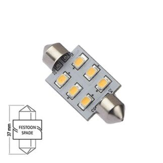LED NauticLED spoolfattning varmvit 10-35V 1,1W 37mm