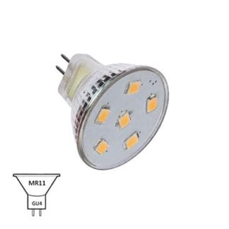 LED NauticLED MR11 varmvit 10-35V 1,1W IP65